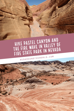 Pastel Canyon in Valley of Fire State Park in Nevada is a great short hike into a small slot canyon. Hike to the Fire Wave after and admire the views. Valley of fire state park | Valley of fire nevada | valley of fire hiking | valley of fire pink canyon | valley of fire pastel canyon | valley of fire fire wave | valley of fire las vegas | nevada hiking | nevada things to do | nevada travel | nevada vacation