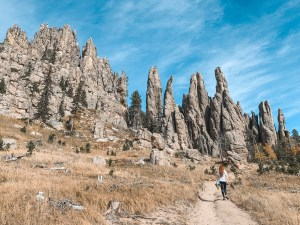 Cathedral spires trail black hills
