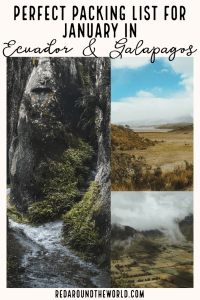 Want to know what to pack for Ecuador in January? Look no further! This is the perfect packing list for Ecuador and the Galapagos Islands. Galapagos packing | Galapagos packing list | Ecuador packing | Ecuador packing list | Ecuador travel Ecuador things to do | Ecuador vacation | Ecuador in January | galapagos travel | galapagos vacation #galapagos #ecuador #packinglist
