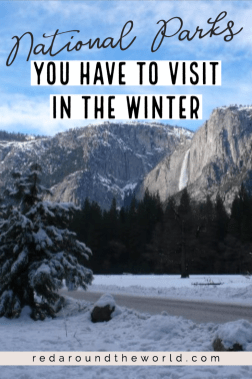 These are some of the best national parks to visit in winter. Whether it's to get into the snow or away from it, these winter national park trips will be unforgettable. US National Parks | National Park road trip | national parks to see in winter | winter national parks | Zion national park | Arches National Park | Yosemite national park | Big Bend National park | Everglades National Park | Yellowstone in winter | Arches in winter | Zion in winter | national parks in winter | winter road trip