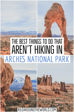 Short on time? Not a hiker? Don't skip Arches National Park in Moab! This is a guide to what to do in Arches National Park if you don't hike. Arches Utah | Arches national park utah | arches national park things to do | Moab things to do | Moab Utah | Arches things to do | utah national parks | utah road trip | utah things to do | utah national parks road trip | Utah mighty 5 #utah #nationalparks #utahroadtrip #moabutah