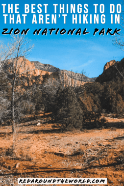 Zion National Park is the most popular national park in Utah. It has some of the best hikes in Utah but this will tell you what to do in Zion that isn't hiking. Zion National Park | Zion National Park Utah | Zion Utah | Zion National Park Utah Hiking | Utah Travel | Utah vacation | Utah national parks road trip | Utah things to do | Utah National Parks | Utah hiking #USA #Utah #roadtrip #nationalpark