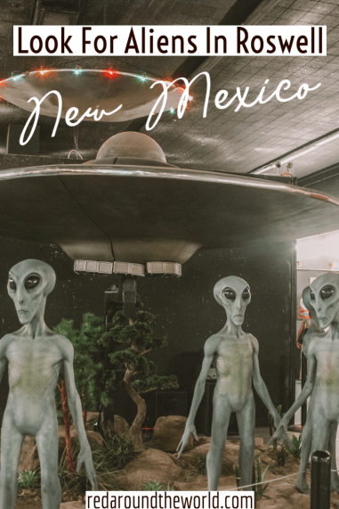 Roswell, New Mexico is a great quirky stop on a New Mexico road trip. If you're visiting Carlsbad Caverns, it's a great, fun side trip. New Mexico road trip | roswell new mexico | aliens in roswell | New mexico things to do | new mexico vacation