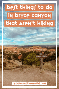Bryce Canyon National Park in Utah is underrated. These are some of the best things to do in Bryce Canyon that aren't hiking on your next Utah road trip. Utah road trip | Utah national parks | Utah national parks road trip | Utah hiking | Utah travel | Utah vacation | Utah things to do | Bryce Canyon hiking | Bryce Canyon photography | Bryce Canyon things to do | Bryce Canyon Utah | Bryce Canyon national park