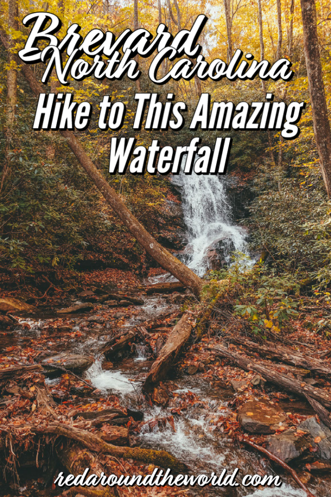 The Log Hollow Falls trail is one of the best easy waterfall hikes in Brevard, North Carolina. There are three waterfalls you can easily see here. log hollow falls trail | log hollow falls hike | log hollow falls north carolina | north carolina waterfalls | brevard waterfalls | brevard north carolina hikes | brevard north carolina waterfalls | north carolina things to do | north carolina road trip | north carolina fall road trip | north carolina vacation