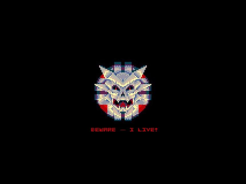 Sinistar Wallpaper – Beware — I Live! (Retroist.com)
