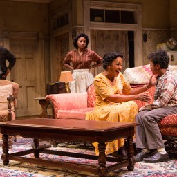 A Raisin In The Sun TRTC 9-17 135 A Raisin In The Sun, by Lorraine Hansberry Directed by Carl Cofield Two River Theatre Company 9/8/17 Set Design: Christopher and Justin Swader Lighting Design: Kathy A. Perkins Costume Design: Clivia Bovenzi Wig Design: Valerie Gladstone Photo Credit: T Charles Erickson © T Charles Erickson Photography tcepix@comcast.net