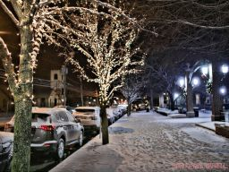 Red Bank Holiday Lights Night Snow 15 of 17
