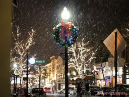Red Bank Snow Snowfall Holiday Lights 5 of 8