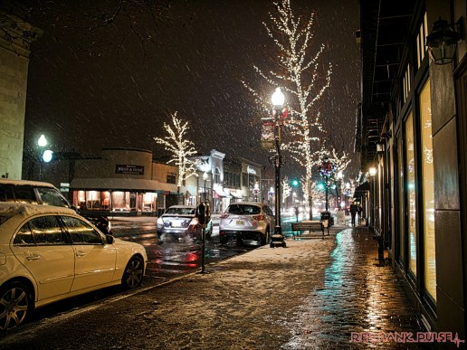 Red Bank Snow Snowfall Holiday Lights 7 of 8