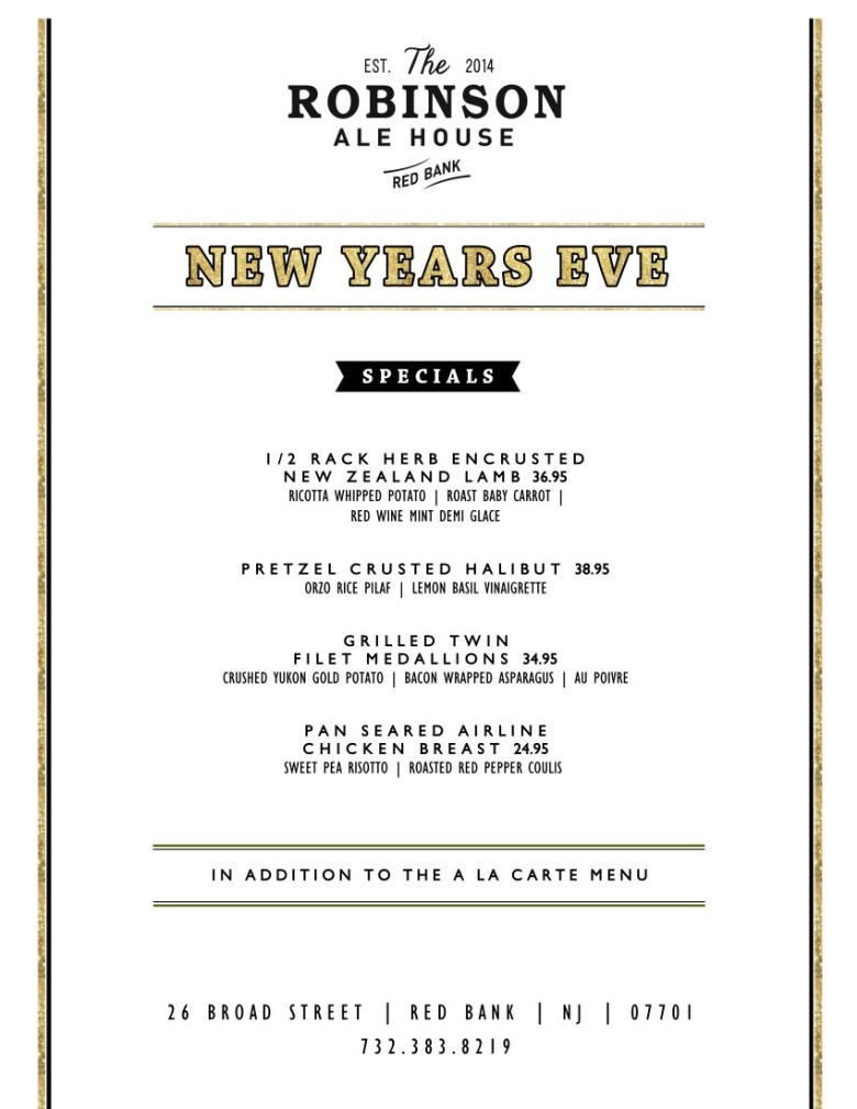 Robinson Ale House New Years Eve