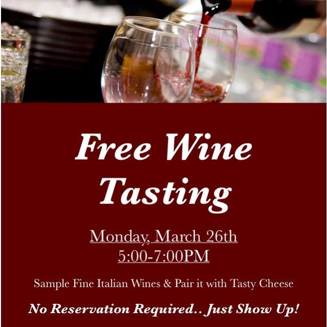 Danny's Steakhouse free wine tasting