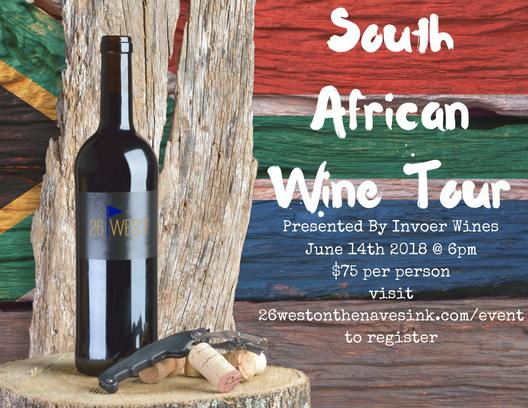 26 West on the Navesink South African Wine Tour