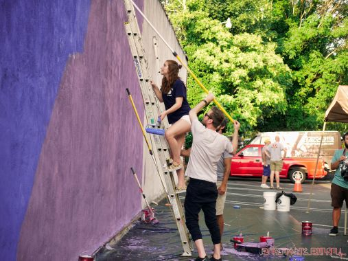 3rd annual community mural painting Indie Street Film Festival 18 of 36