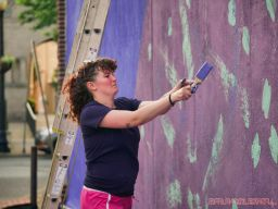 3rd annual community mural painting Indie Street Film Festival 4 of 36