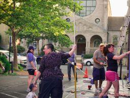 3rd annual community mural painting Indie Street Film Festival 5 of 36