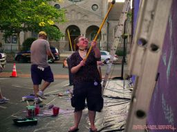 3rd annual community mural painting Indie Street Film Festival 6 of 36
