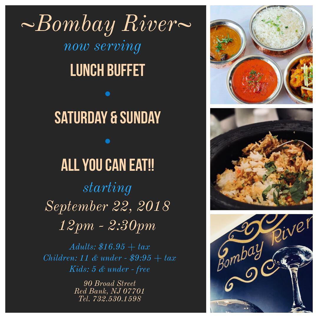 Red Bank Halloween 2020 Saturdsy 27th Bombay River in Red Bank will be offering an all you can eat lunch