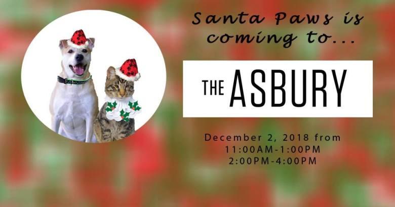 Santa Paws at The Asbury Hotel with Rescue Ridge