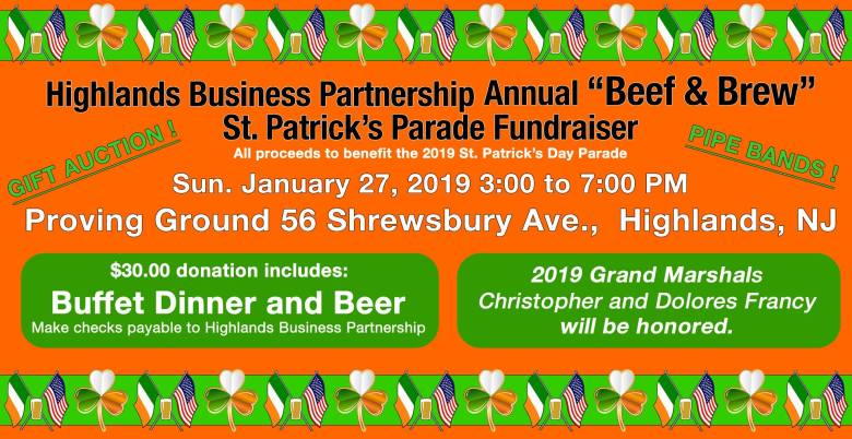 annual beef & brew st. patrick's day parade fundraiser highlands business partnership