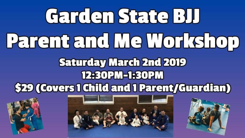 Parent and Me Workshop Garden State Brazilian Jiu-Jitsu