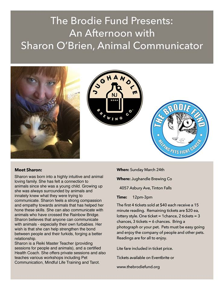 The Brodie Fund Presents Sharon O'Brien Animal Communicator