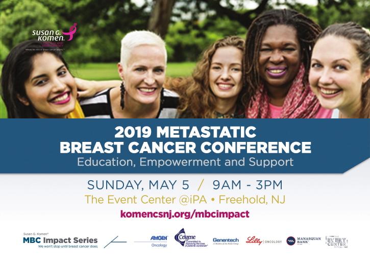 Komen CSNJ Metastatic Breast Cancer Conference 2019 Postcard