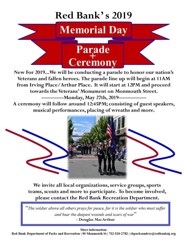 Red Bank Memorial Day Parade & Ceremony