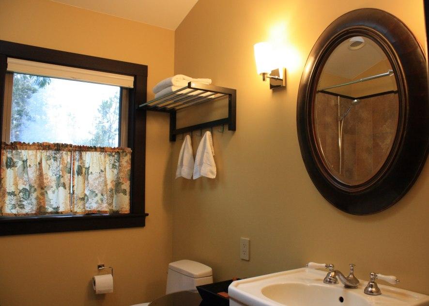 Mendocino Vacation Rental Red Barn Retreat Bathroom View Three