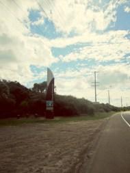 on road kurnell bikeway.