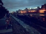 black bike.
