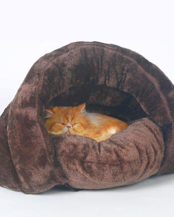 Comfy Plush Cat Cave Bed in Multiple Colors Redbox