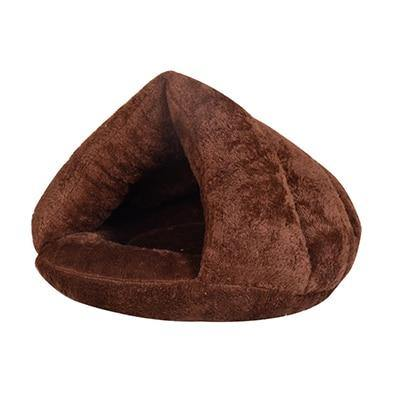 Comfy Plush Cat Cave Bed in Multiple Colors Redbox Coffee 40x40x30