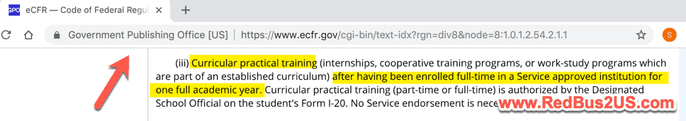 General Guideline on CPT - Curricular Practical Training