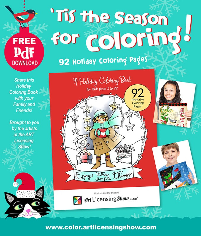 'Tis the season for coloring! Free holiday coloring book!