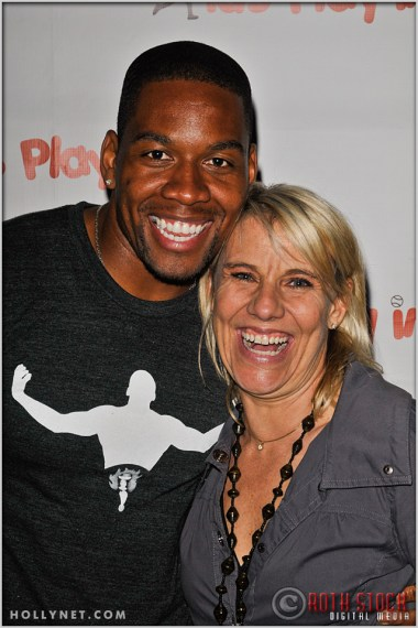 Actor Coley Mustafa Speaks with Olympian Tracy Evans at Kids Play International's 4th Annual Cocktails For A Cause