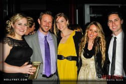 Olympians Jennie Reed and Adam Duvenbeck with Jennifer Tetrick, guest and Kit Karzen