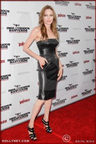 Angelina Jolie attends the Los Angeles Premiere of Inglourious Basterds