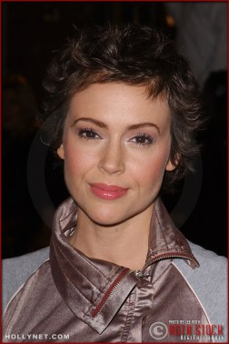 """Actress Alyssa Milano attends the U.S. premiere of """"The Last Samurai"""""""