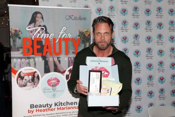 Chris Browning (BOSCH) received organic spa products from the Beauty Kitchen