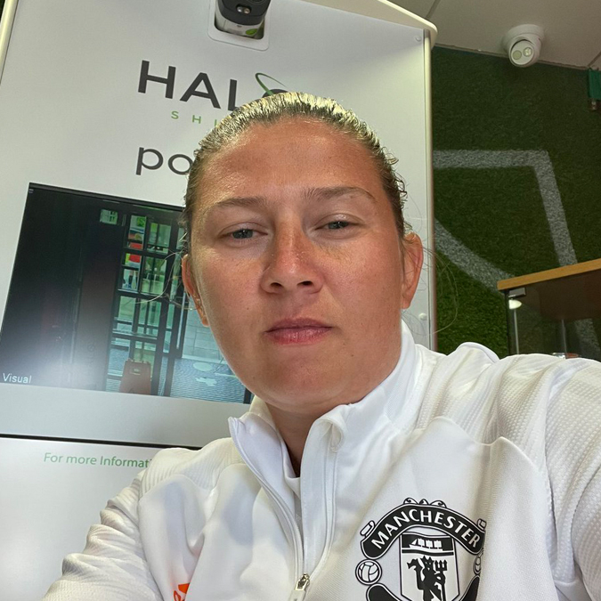 Emma-Fletcher-protected-by-the-Halo-Shield-at-Manchester-United