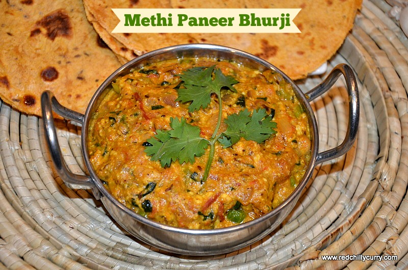 Methi Paneer Bhurji Recipe methi paneer bhurji  paneer bhurji  paneer methi bhurji  north indian  recipes  paneer