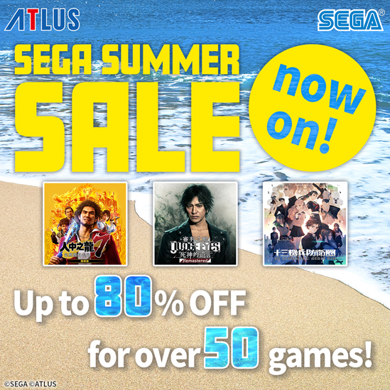 SEGA SUMMER SALE NOW ON! UP TO 80% OFF FOR OVER 50 GAMES