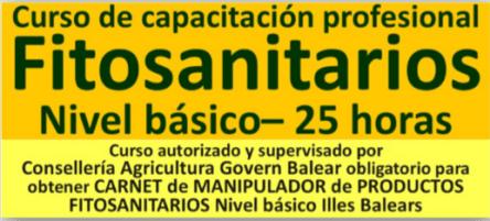 curso fitosanitario basico Palma de REDCONPYME FORMACIÓN
