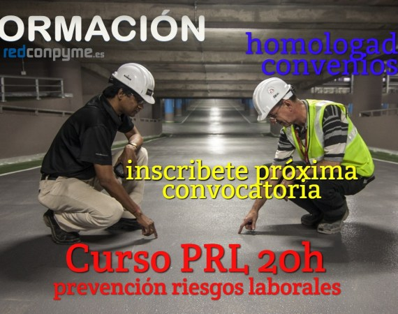 Curso PRL 20 horas Prevención riesgos laborales Baleares Palma Inscripción abierta envía wasap