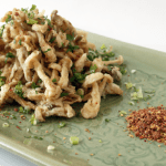 """East Meets East"" with Crisp-Fried Mushrooms"