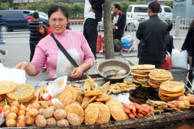 Fried Snack Vendor in Chengdu