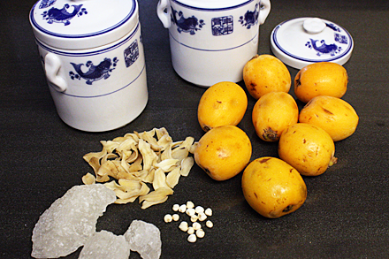 Ingredients for making Loquat Soup