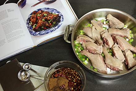 Prepping Red-Cooked Duck