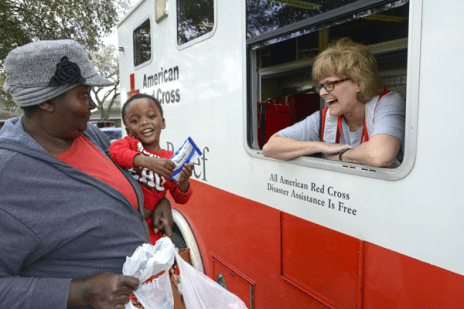 The American Red Cross delivered water and snacks to neighborhoods affected by flooding in Rayville, Louisiana. For many residents, today was the first day they were able to get back into their homes to assess damage.